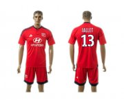 Wholesale Cheap Lyon #13 Jallet Away Soccer Club Jersey