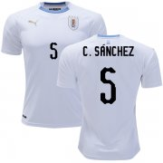 Wholesale Cheap Uruguay #5 C.Sanchez Away Soccer Country Jersey