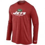 Wholesale Cheap Nike New York Jets Critical Victory Long Sleeve T-Shirt Red
