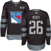 Wholesale Cheap Adidas Rangers #26 Jimmy Vesey Black 1917-2017 100th Anniversary Stitched NHL Jersey