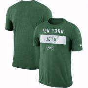Wholesale Cheap Men's New York Jets Nike Green Sideline Legend Lift Performance T-Shirt