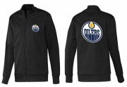 Wholesale Cheap NHL Edmonton Oilers Zip Jackets Black-1