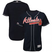 Wholesale Cheap Braves Blank Navy Blue Flexbase Authentic Collection Stitched MLB Jersey