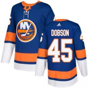 Wholesale Cheap Adidas Islanders #45 Noah Dobson Royal Blue Home Authentic Stitched NHL Jersey