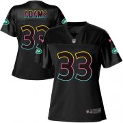 Wholesale Cheap Nike Jets #33 Jamal Adams Black Women's NFL Fashion Game Jersey
