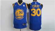 Wholesale Cheap Nike Golden State Warriors #30 Stephen Curry Blue 2017-18 Stitched NBA Jersey