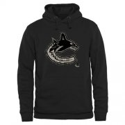 Wholesale Cheap Men's Vancouver Canucks Black Rink Warrior Pullover Hoodie