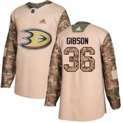 Wholesale Cheap Adidas Ducks #36 John Gibson Camo Authentic 2017 Veterans Day Stitched NHL Jersey