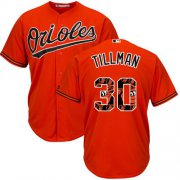 Wholesale Cheap Orioles #30 Chris Tillman Orange Team Logo Fashion Stitched MLB Jersey