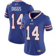Wholesale Cheap Nike Bills #14 Stefon Diggs Royal Blue Team Color Women's Stitched NFL Vapor Untouchable Limited Jersey
