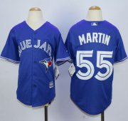 Wholesale Cheap Blue Jays #55 Russell Martin Blue Cool Base Stitched Youth MLB Jersey