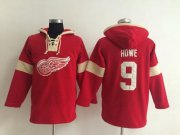 Wholesale Cheap Detroit Red Wings #9 Gordie Howe Red Pullover NHL Hoodie