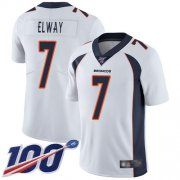 Wholesale Cheap Nike Broncos #7 John Elway White Men's Stitched NFL 100th Season Vapor Limited Jersey