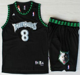 Wholesale Cheap Minnesota Timberwolves #8 Latrell Sprewell Black Swingman Jersey Short Suits