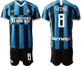 Wholesale Cheap Inter Milan #8 Vecino Home Soccer Club Jersey