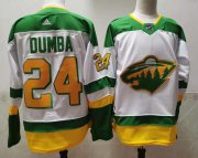 Wholesale Cheap Men's Minnesota Wild #24 Matt Dumba 2021 White Retro Stitched NHL Jersey