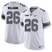 Wholesale Cheap Ohio State Buckeyes 26 Antonio Williams White Shadow College Football Jersey