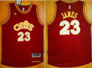 Wholesale Cheap Men's Cleveland Cavaliers #23 LeBron James Revolution 30 Swingman 2015-16 Retro Red Jersey