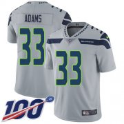 Wholesale Cheap Nike Seahawks #33 Jamal Adams Grey Alternate Men's Stitched NFL 100th Season Vapor Untouchable Limited Jersey