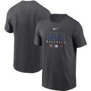 Wholesale Cheap Men's New York Mets Nike Charcoal Authentic Collection Team Performance T-Shirt