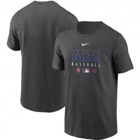 Wholesale Cheap Men\'s New York Mets Nike Charcoal Authentic Collection Team Performance T-Shirt