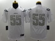 Wholesale Cheap Nike Chargers #55 Junior Seau White Men's Stitched NFL Limited Platinum Jersey