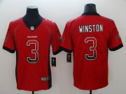 Wholesale Cheap Nike Buccaneers #3 Jameis Winston Red Team Color Men's Stitched NFL Limited Rush Drift Fashion Jersey