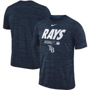 Wholesale Cheap Tampa Bay Rays Nike Authentic Collection Velocity Team Issue Performance T-Shirt Navy