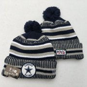 Wholesale Cheap Cowboys Team Logo Gray 100th Season Pom Knit Hat YD