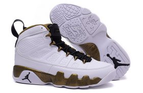 Wholesale Cheap Womens Air Jordan 9 statue White/gold