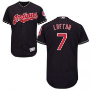 Wholesale Cheap Indians #7 Kenny Lofton Navy Blue Flexbase Authentic Collection Stitched MLB Jersey