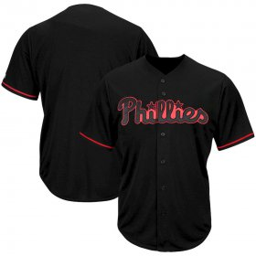 Wholesale Cheap Philadelphia Phillies Majestic Big & Tall Pop Fashion Jersey Black