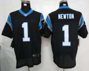 Wholesale Nike Panthers #1 Cam Newton Black Team Color Men's Stitched NFL Elite Jersey