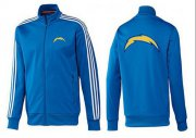 Wholesale NFL Los Angeles Chargers Team Logo Jacket Blue_3