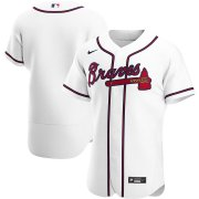 Wholesale Cheap Atlanta Braves Men's Nike White Home 2020 Authentic Team MLB Jersey