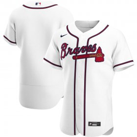 Wholesale Cheap Atlanta Braves Men\'s Nike White Home 2020 Authentic Team MLB Jersey