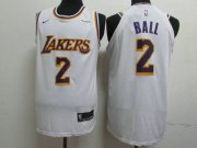 Wholesale Cheap Lakers 2 Lonzo Ball White 2018-19 Nike Authentic Jersey