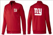 Wholesale Cheap NFL New York Giants Team Logo Jacket Red_1