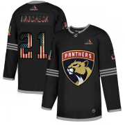 Wholesale Cheap Florida Panthers #21 Vincent Trocheck Adidas Men's Black USA Flag Limited NHL Jersey