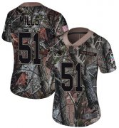 Wholesale Cheap Nike Panthers #51 Sam Mills Camo Women's Stitched NFL Limited Rush Realtree Jersey