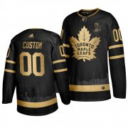 Wholesale Cheap Adidas Maple Leafs Custom Men's 2019 Black Golden Edition OVO Branded Stitched NHL Jersey