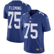 Wholesale Cheap Nike Giants #75 Cameron Fleming Royal Blue Team Color Youth Stitched NFL Vapor Untouchable Limited Jersey