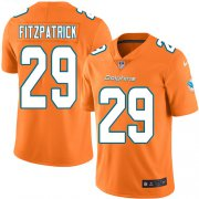 Wholesale Cheap Nike Dolphins #29 Minkah Fitzpatrick Orange Youth Stitched NFL Limited Rush Jersey