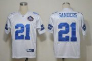 Wholesale Cheap Cowboys #21 Deion Sanders White Hall of Fame 2012 Stitched NFL Jersey
