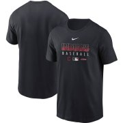 Wholesale Cheap Men's Cleveland Indians Nike Navy Authentic Collection Team Performance T-Shirt