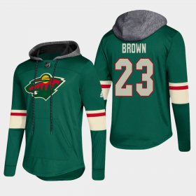 Wholesale Cheap Wild #23 J.t Brown Green 2018 Pullover Platinum Hoodie