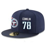 Wholesale Cheap Tennessee Titans #78 Jack Conklin Snapback Cap NFL Player Navy Blue with White Number Stitched Hat