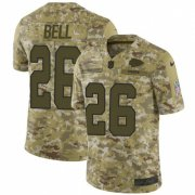 Wholesale Cheap Nike Chiefs #26 Le'Veon Bell Camo Men's Stitched NFL Limited 2018 Salute To Service Jersey