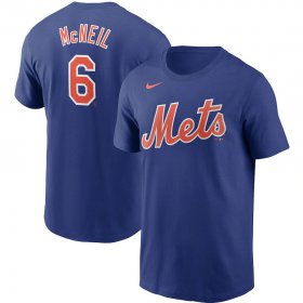 Wholesale Cheap New York Mets #6 Jeff McNeil Nike Name & Number T-Shirt Royal