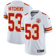 Wholesale Cheap Nike Chiefs #53 Anthony Hitchens White Men's Stitched NFL Vapor Untouchable Limited Jersey